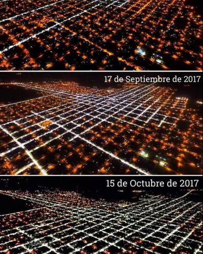 Dolores: un cambio rotundo tras la instalación de luminarias LED
