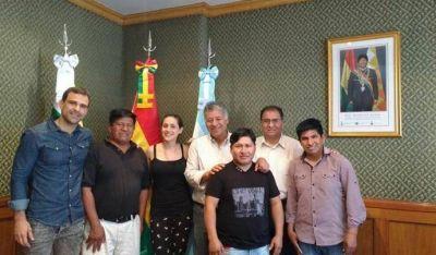 Se reunió UOLRA con el Embajador de Bolivia