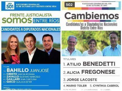 Benedetti, Fregonese, Lacoste, Bahillo y Cresto son los diputados electos por Entre Ríos