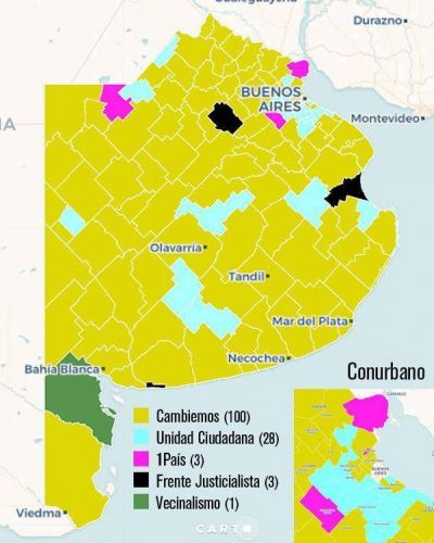 Listas locales de Cambiemos ganaron en 100 distritos, una decena más que las PASO
