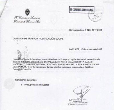 Para dale el gusto a Macri, Cambiemos gira el debate por la adhesión a la ley de ART a otra comisión del Senado