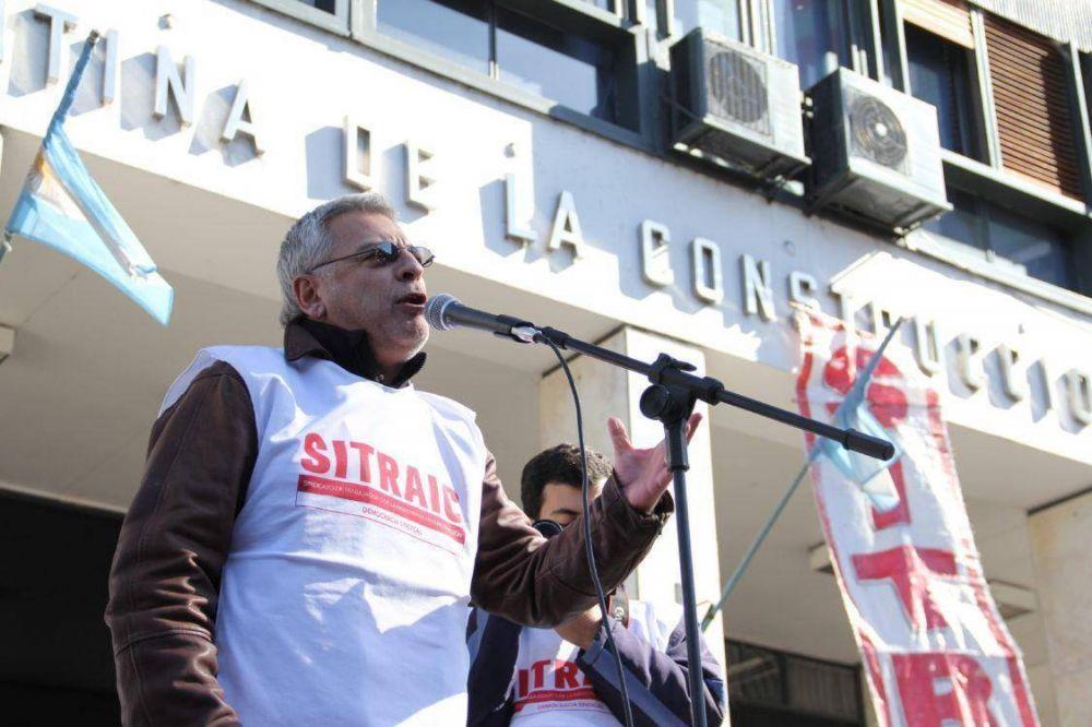 Víctor Grosi busca renovar su mandato al frente de los trabajadores de la Construcción