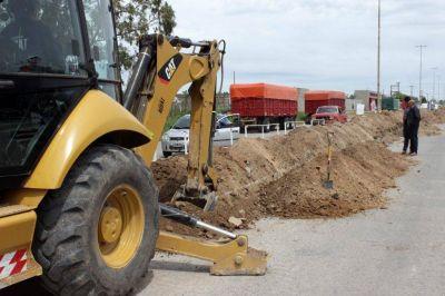 Avanza la obra que permitirá extender la red domiciliaria de gas en Balcarce