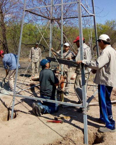 Ejecutaron obras de agua para beneficiar a más de un centenar de agricultores familiares