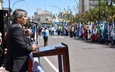 Britos encabezó el acto por el 163º Aniversario de Chivilcoy: