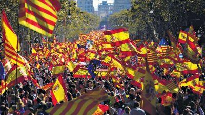 El españolismo tomó las calles de Barcelona