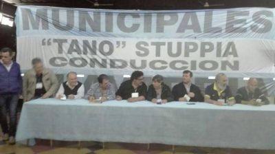 Alberto Giménez asistió a reunión de Secretario Generales del FE.SI.MU.BO. en Olavarría
