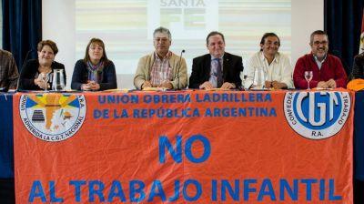 Ladrilleros inició la campaña contra el trabajo infantil y fue acompañado por la CGT