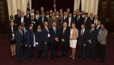 Intensa agenda de Corpacci en Melbourne
