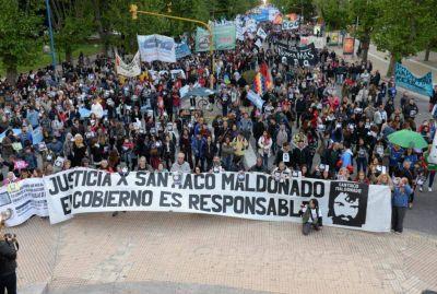 Una multitud en Mar del Plata recordó a Santiago Maldonado