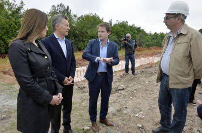 Macri y Vidal supervisaron obras en la cuenca del Río Reconquista