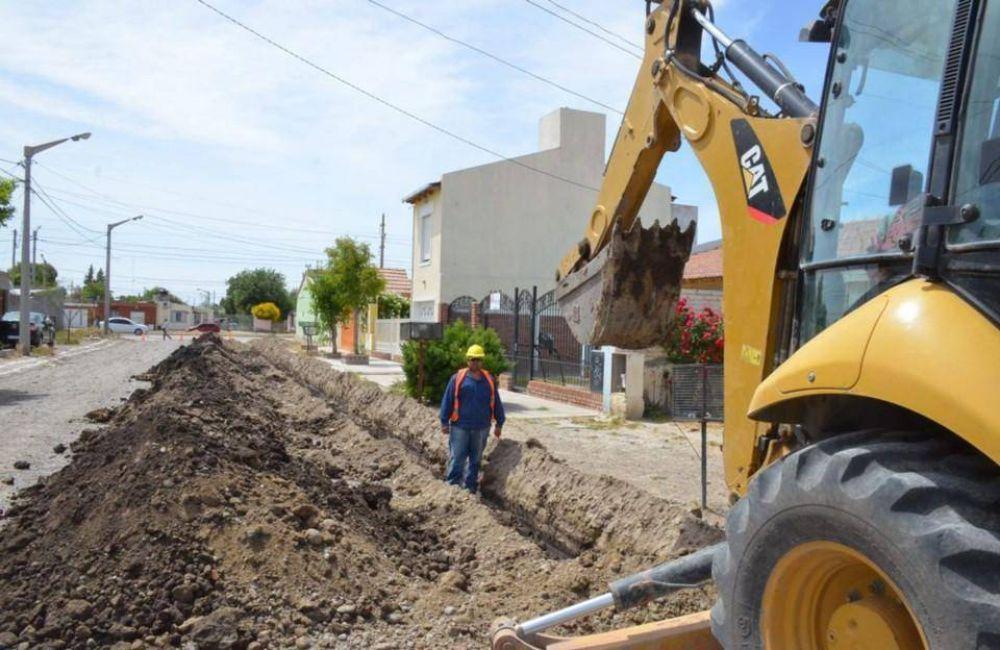 Avanza a ritmo sostenido la ejecución de obra pública en varios barrios de Trelew