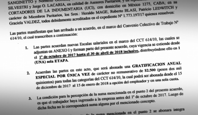 Cortadores de Indumentaria firman aumento del 12% por siete meses