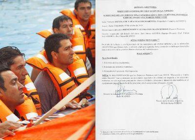 """La Armada Argentina calificó de """"mejora superlativa"""" en los cursos brindados por la intervención del SOMU"""