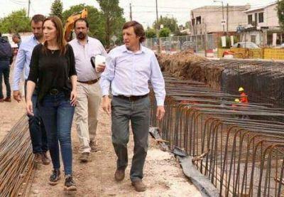 Vidal visitó San Miguel acompañada de Jaime Méndez