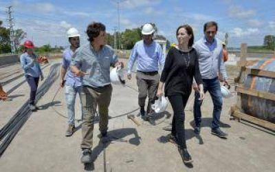 Vidal supervisó obras de infraestructura para evitar inundaciones en La Plata y Ensenada