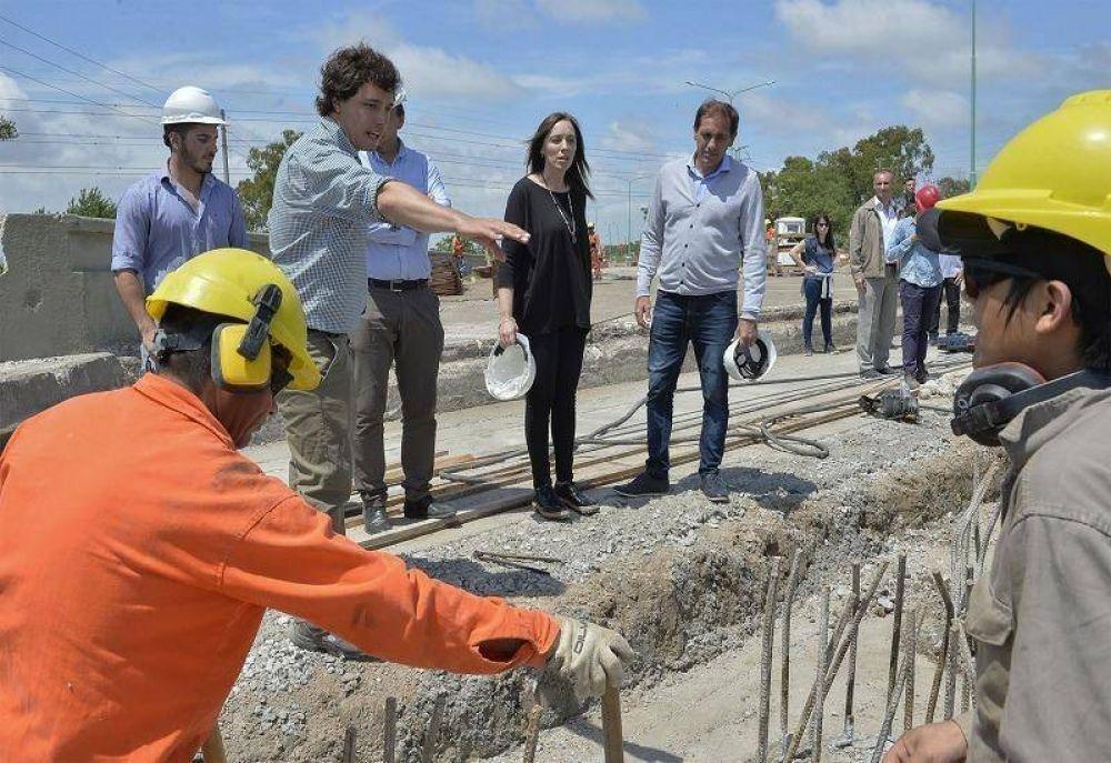 Vidal recorrió obras de saneamiento en la cuenca del arroyo El Gato