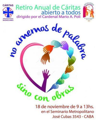 El Card. Poli predicará el retiro anual Cáritas Buenos Aires