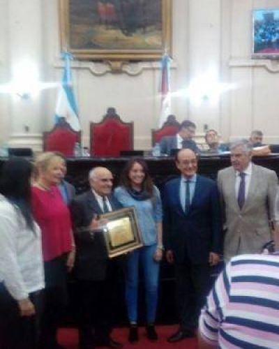 La Legislatura cordobesa reconoció a Santiago Solans