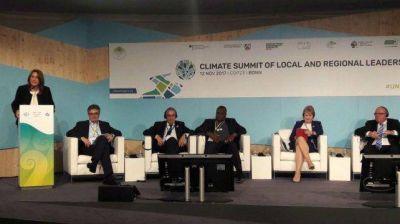 Fein expuso en un panel de la ONU contra el cambio climático