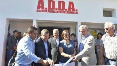 Lucía, en la reapertura de las instalaciones de ADDA