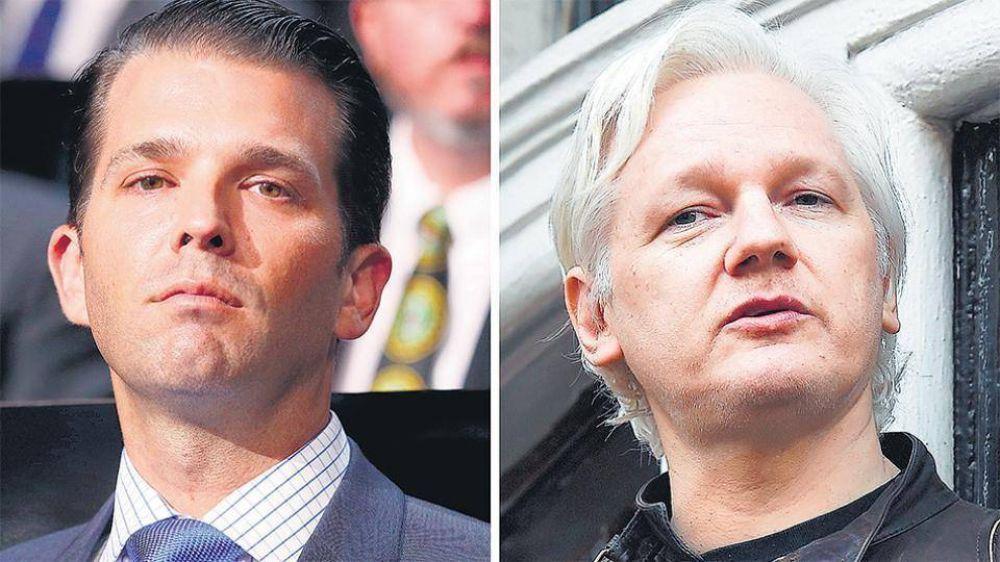 Trump Jr. y WikiLeaks se mandaron mensajes