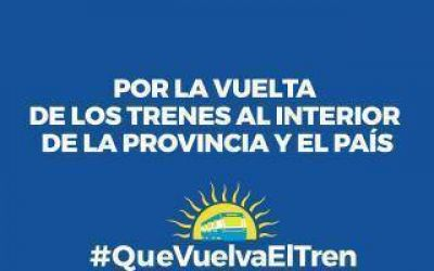 #QueVuelvaElTren: Impulsan consulta popular sobre la vuelta del tren al interior de la Provincia