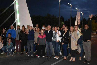 Juana Koslay inauguró su portal de ingreso y paseo comercial