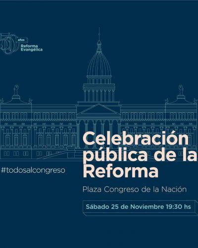 Este sábado marcha y celebración pública por los 500 años de la reforma en Plaza de los Dos Congresos