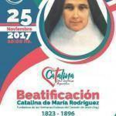 Cronograma de actividades por la beatificación de la Madre Catalina