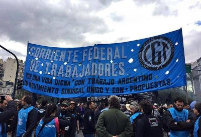 """Marcha sindical: """"La realidad nos va a juntar a todos en la calle"""", dijo Federico Bach de La Bancaria"""