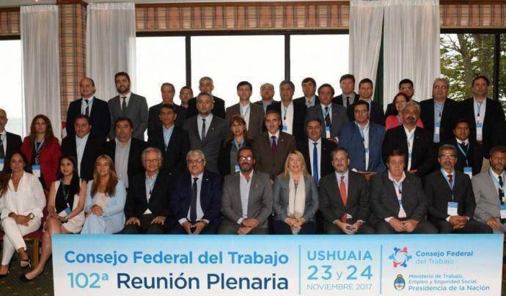 Se reunió el Consejo Federal del Trabajo en Ushuaia