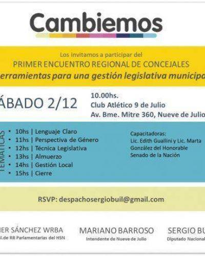 Primer Encuentro de concejales de Cambiemos de la 4° Sección en 9 de Julio