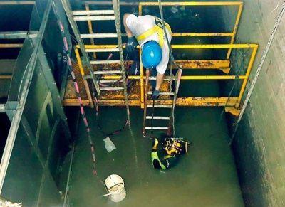 Otro día con escasez de agua en la Ciudad, ahora por limpieza en la planta de Absa