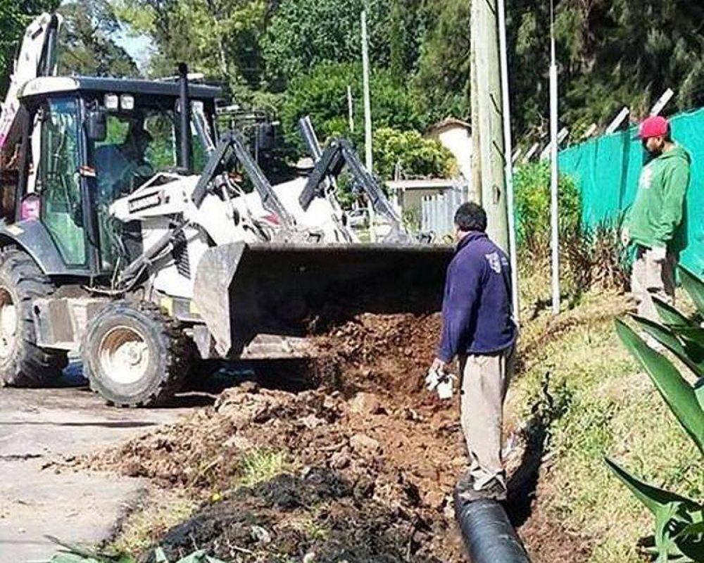 Tigre extiende la colocación de desagües pluviales en El Talar