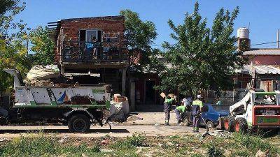 San Fernando hizo tareas de limpieza e higiene urbana en el barrio Presidente Perón