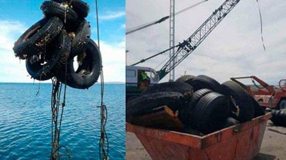 Sacaron más diez volquetes de basura que estaba del fondo del mar
