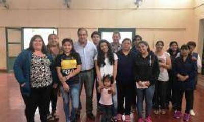 El senador Julio Martínez, de gira post elecciones