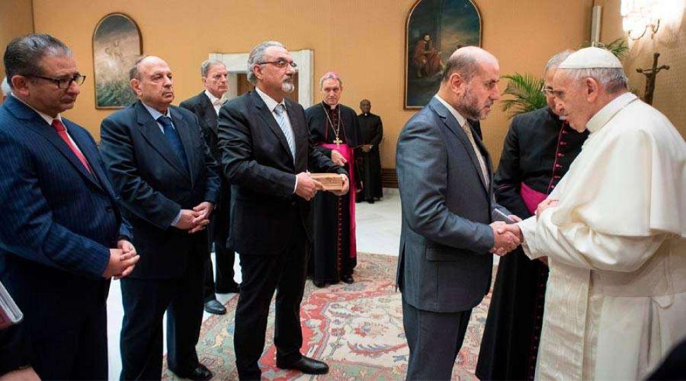 El Papa pide a representantes religiosos de Palestina dialogar respetando los derechos