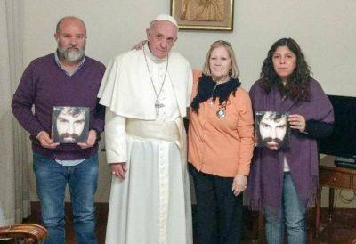 El Papa Francisco recibió a la familia de Santiago Maldonado