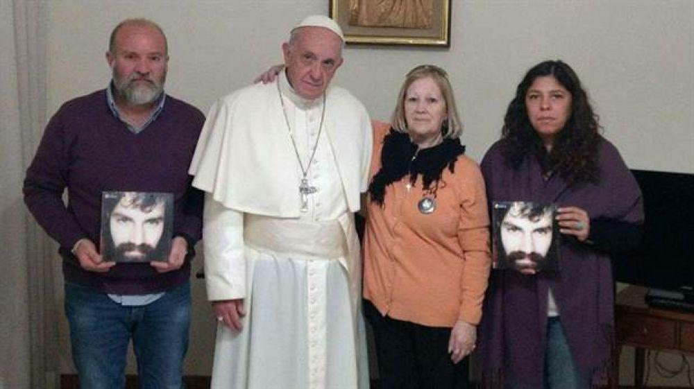 La familia de Santiago Maldonado visitó al Papa: