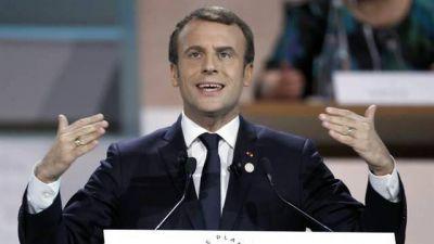 Macron busca consolidarse como líder global con una cumbre climática
