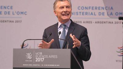 """Macri en la inauguración de la cumbre de la OMC: """"Venimos de muchas décadas de ser un país aislado"""""""