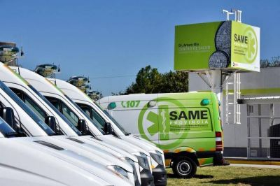 Desde el ministerio de Salud proyectan que el SAME llegue a 77 municipios en 2018