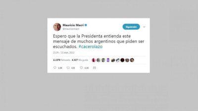 El día en el que el presidente Macri pidió que escucharan al cacerolazo