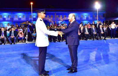 El gobernador Insfran presidio acto promoción de nuevos oficiales policiales