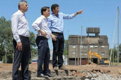 Posse y Tizado en las obras del futuro parque público del puerto de San Isidro