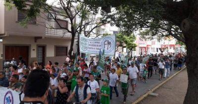 Movilización contra los despidos en Fabricaciones Militares