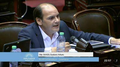 Saadi anticipó que acompañará con disidencias la reforma tributaria