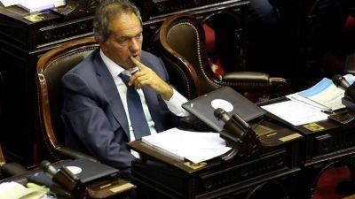 El gran ausente: Scioli jugó para el Gobierno y no votó la reforma previsional